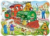 Castorland B-03433 - Green locomotive - puzzle incorniciato per bambini 30 pezzi immagine