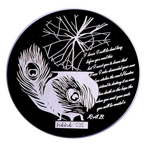 yimart® Mini Nail Art polonais manucure image Stamping plaque modèle hehe-35