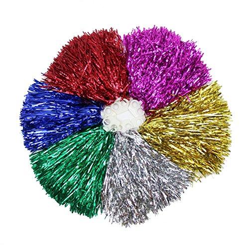 VENI MASEE 1 Paar Doppel Halten Hand Shank Cheerleader Pompons, Preis/2 St¨¹ck, 0.025 kg/St¨¹ck, 6 Farben – blau