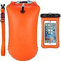 LEKIA Schwimmboje Hoch Sichtbarer Erwachsene Schwimmboje mit Trockentasche IPX8 Wasserdichter Handyhülle für Offenes…