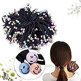 40pezzi nero elastici per capelli Fermacoda elastici per capelli Bulk Ponytail titolari