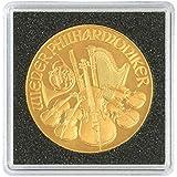 Capsules pour monnaies CARRÉE 33 mm (4 Pieces) [Lindner 2240033], Format extérieur: 50 x 50 mm - Inner diameter: 33 mm