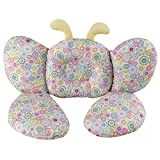 Kakiblin cuscino da bambino per sedile auto o carrozzina, supporto testa e collo, motivo farfalla