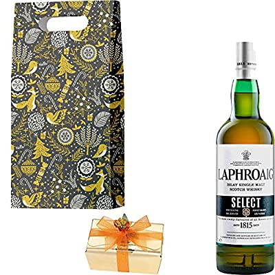 Laphroaig Select Single Malt Scotch Whisky Christmas Gift Set With Handcrafted Merry Christmas Gifts2Drink Tag