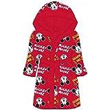 Sfiziosa Mickey - Albornoz de color rojo con capucha, tallas 2/3-4/5-6/8 años