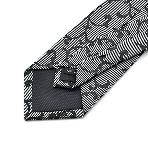 PenSee - Cravate - Homme Silver grey & Black