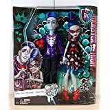 "Monster High Poupée Couple Zombie Ghoulia Yelps et Sloman ""Slo Mo"" Mortavitch CKD81"