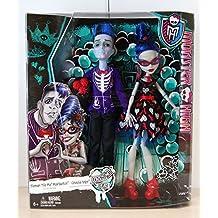 "Monster High Poupée Couple Zombie Ghoulia Yelps et Sloman ""Slo Mo"" Mortavitch CKD81"