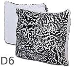 2er Pack prall gefüllte Kissen 40x40 Plüschkissen Couchkissen Sofakissen Fleece , Design - Motiv:Design 6