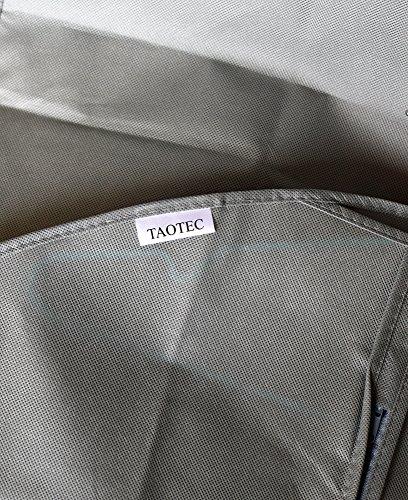 taotec transpirable fundas para la ropa bolsas de ropa prueba de polvo mothproof pantalla, Gris, 4 piezas