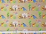 50 cm Baumwolljersey Jersey Disney Winnie Pooh braun Stoff