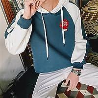 Sudaderas con capucha y un suéter suéter manga larga de hombre tamaño movimiento estudiantil,Azul,Xl