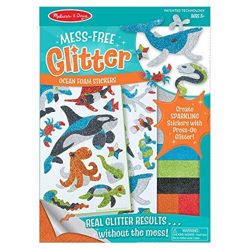 Melissa & Doug Melissa Doug Mess Free Glitter Ocean Foam Stickers