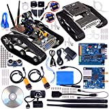 Kuman SM5 TH Wireless WiFi Robot Car Kit for Arduino,Utility Vehicle Intelligent Robotics, HD Camera arduino DS Robot Smart Educational Robot Kit for Kids with Video Tutorial