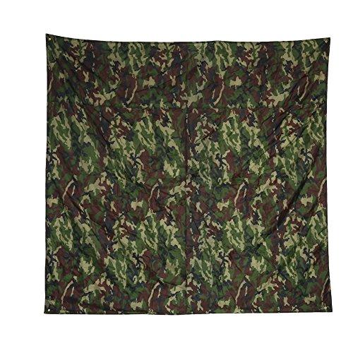Alomejor Wasserdichte Zeltplane für Camping, Ultraleicht, multifunktional, Camouflage-Fußabdruck, Bodenmatte für Picknick-Decke, 2 * 2M