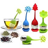 El infusor de té con bandeja de goteo incluye el juego de 5, filtro de té y filtro de té SourceTon con mango de silicona de a