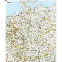 Deutschland Planoposter: mit Leiste (MICHELIN Planokarten)