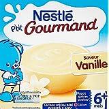 Nestlé Bébé P'tit Gourmand Saveur Vanille - Laitage dès 6 mois - 4 x 100g -Lot de 6