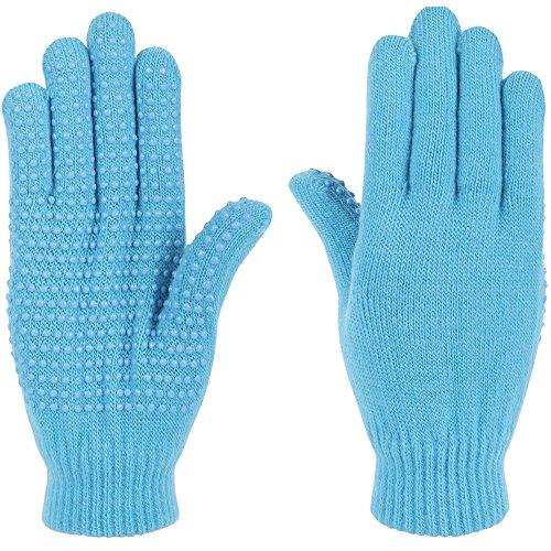 netproshop Unisex Magic Handschuhe mit Gumminoppen Einheitsgröße, Farbe:Tuerkis