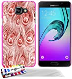 GENUINE Extra-Slim rigid Hot pink Case red peacock By MUZZANO for SAMSUNG GALAXY A3 (2016) / A3-6 / A310 + 3 UltraClear Screen protector