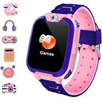 Smartwatch Bambini,Orologio Intelligente Bambini con 7 Giochi Orologio LBS a 2 vie con Chiamata Smartwatch Impermeabile…