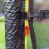 Gartentrampoline Trampoline Outdoor-Trampoline Fitness-Trampoline 370cm , inkl. Sicherheitsnetz,Schuhtasche, Bodenanker, Leiter und Abdeckplane - 8