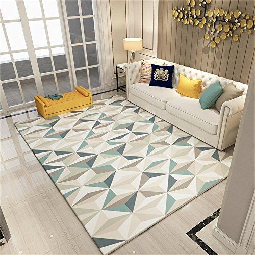 Alfombra de diseño Nordic Wind Geometric Living Room Sofá Mesa de centro Alfombra Modern Simple Dormitorio Rectangular Carpeta de cama ( Color : #8 , Tamaño : 120*160cm )
