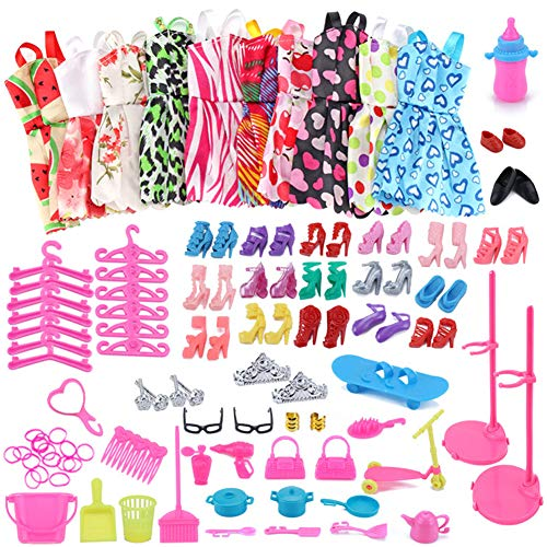 WENTS Accesorios muñecas Barbie 114 PCS