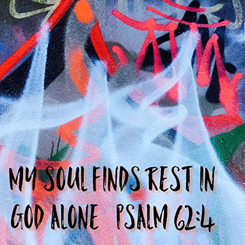 lschrankmagnet mit Weihnachts-Zitat, Kühlschrankmagnet, Jesus-Kühlschrankmagnet, God-Zitat, Bibelvers, Poster My Soul Finds Rest In God Alone Psalm 62:4 Love Trust Faith Jesus, Poster, 400 X 400MM ()