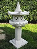 Mui Garten Dekor Vogelhaus auf Säule japanische Steinlaterne Garden Decor