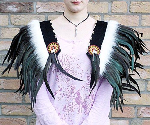wurf Federn Kragen Cape Capelet UNIKAT Fasching Fotoshooting Deko Tanz (Feder Cape Kostüm)