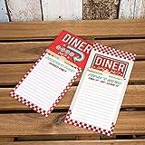 Magnético American Diner para hacer lista de compras pad cocina imán para nevera