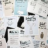 everlar® 30 Lustige Baby Meilenstein Foto Karten | Wunderbar anders & einzigartig | Liebevoll gestaltet | Ideales Geschenk für Geburt & Taufe | Unvergessliche & humorvolle Erinnerungen