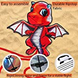 Baby Dragon Kite: Best 3D Kite Animal for Kids - Ideal Kites for Kids Who Love the Great Outdoors - Perfect Kids Kites for the Beach and Park - Easy Flyer Kite for Kids and Adults