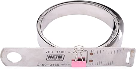 MGW Precision CT1100 Circumference Tape 700-1100mm, Silver