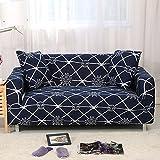 FORCHEER Sofabezug Elastischer Sesselbezüge Blumen-Muster Chair Cover Stretch Hussen für Sofa/Couch in Verschiedenen Größen (2-Sitzer, Pattern# XBK)