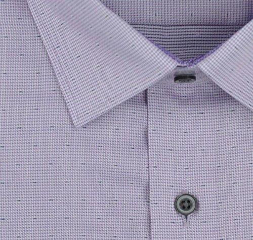 Eterna Modern Fit  Langarm lila strukturiert mit Modern Kent-Kragen Violett (Violett 95)