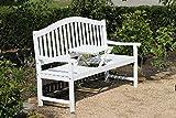 Gravidus Gartenbank mit hochklappbarem Tisch, Eukalyptus