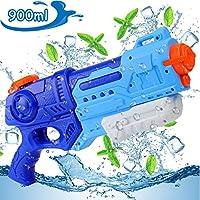 EKKONG Pistolas de Agua para Niños Adultos, 900ML Soaker Guns Largo Alcance 8M, Juguetes de Verano Caliente para Piscina de Playa Fiesta Jardin Batalla de Agua (900ml)