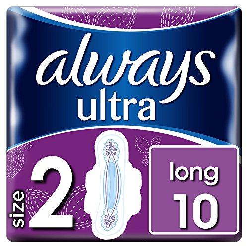 Always Ultra Long Binden (Größe2) Mit Flügeln, 3er Pack (3 x 10 Stück)