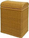 Wäschekorb/Wäschebox mit gewölbtem Deckel aus Echtem Rattan