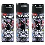 3 x Playboy New York Deo 150ml