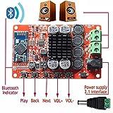 Mohoo Verstärkerplat TDA7492P Hifi MiniBluetooth Verstärker 50W + 50W Doppelkanal Bluetooth Audioempfänger-Leistungsverstärker Digital Stereoverstärker Amplifizieren Sie Amp Ampli Brett mit Kühlkörper