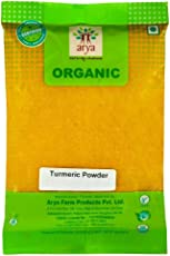 Arya Farm 100% Certified Organic Pure Edible Turmeric Powder, 200g ( Haldi / Spice Powder / Cooking / No Chemicals / No Pesticides / No Added Preservatives or Artificial Colour )