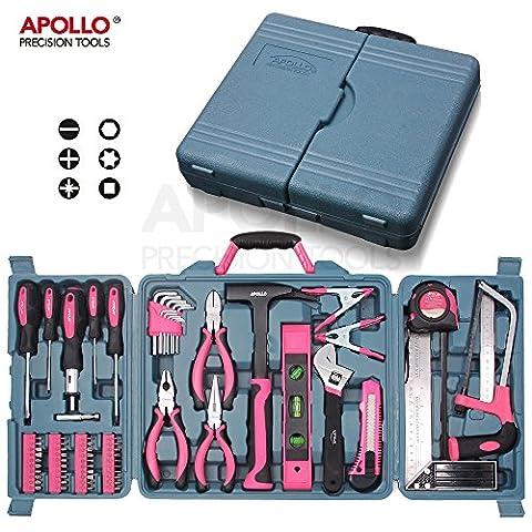 Kit d'Outils pour la Maison Rose Apollo 71 pièces incluant