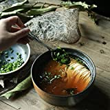 Salatschüsseln 6,5-Zoll-Handgemachte Runde Keramik Schüssel große Steingut Schüssel mit Deckel für Udon Ramen Nudelsalat Suppe und Brei Nudelschale (Farbe : Black)