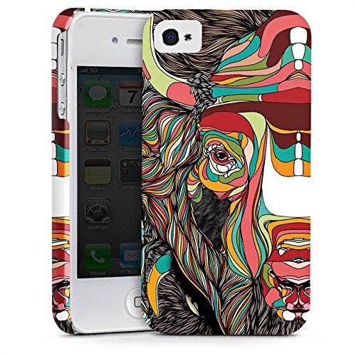 Apple iPhone X Silikon Hülle Case Schutzhülle Bison Muster Farben Premium Case glänzend