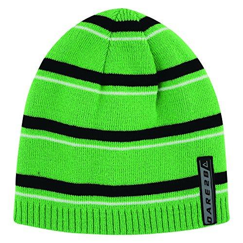 Dare 2B Inherant - Bonnet réversible - Enfant unisexe Vert/Noir