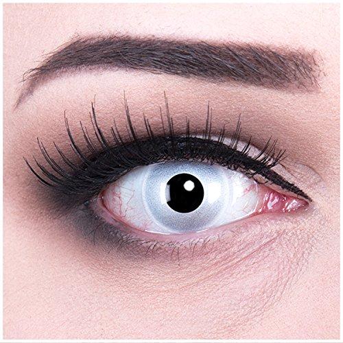 Meralens mehrfarbige Kontaktlinsen, Mirror mit Pflegemittel ohne Stärke, 1er Pack (1 x 2 Stück) (Augen Des Himmels Kostüme)