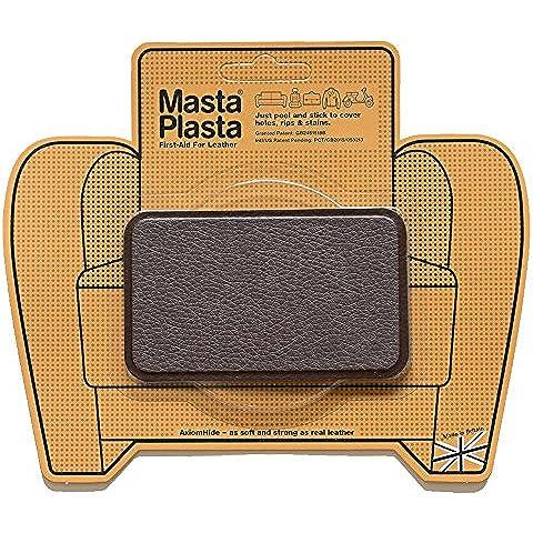 Reparación Cuero, Polipiel y Skai - Parches Adhesivos - MastaPlasta - Rectangulo Mediano (100x60mm) (Marrón